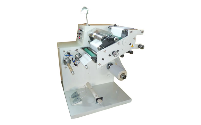 AS-320T Slitting Machine with Manual Turret Rewinder