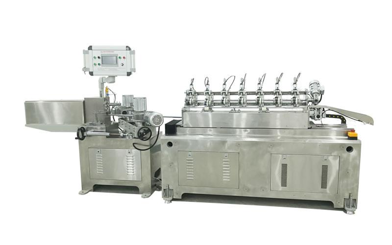 PS-200S 7 Balde Stainless Steel High Speed Online Cutting Paper Straw Machine