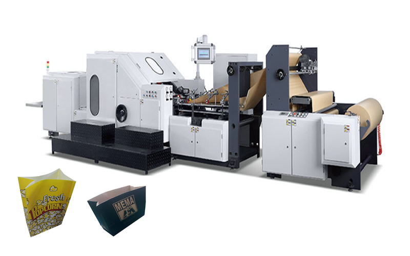 ADB-290 Adjustable Roll Square Bottom Paper Bag Making Machine with Window
